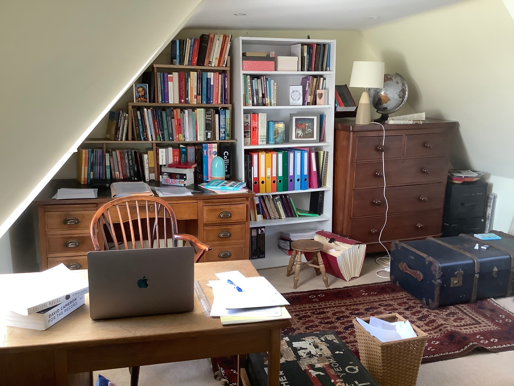 Identity and Pandemic Bookshelves: what's in a Zoom backdrop?